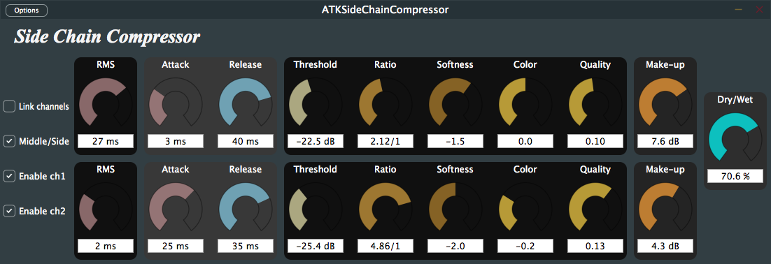 ATK Side Chain Compressor GUI