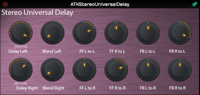 ATK Stereo Universal Delay GUI
