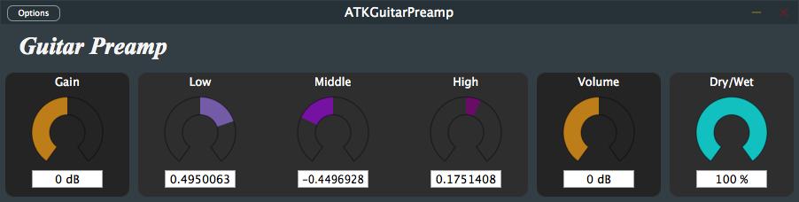 ATK Guitar Preamp GUI